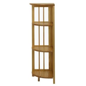Casual Home 4-Shelf Folding Corner Bookcase