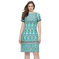 Plus Size Suite 7 Ikat Shift Dress