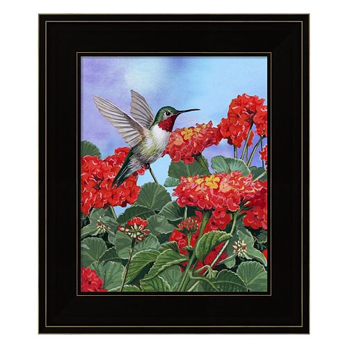 Hummingbird And Flower 2 Framed Wall Art
