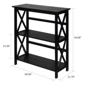 Casual Home Montego 3-Shelf Bookcase