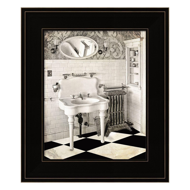 Superbe Victorian Bathroom Framed Wall Art