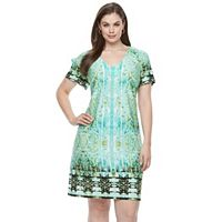 Plus Size Suite 7 Carper Medallion Shift Dress
