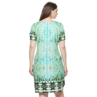 Plus Size Suite 7 Carper Medallion Shift Dress
