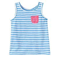 Baby Girl Jumping Beans® Striped Lace-Pocket Tank Top