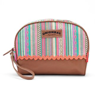 Unionbay Striped Wristlet Cosmetic Pouch