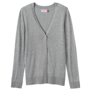 Girls Plus Size SO® Perfectly Soft Button-Down Cardigan