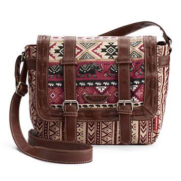 Unionbay Tribal Elephant Messenger Bag