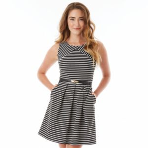 Juniors' IZ Byer California Striped Ponte Dress