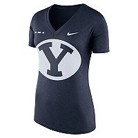 Women's Nike BYU Cougars Striped Bar Tee