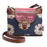 Unionbay Flower Dual-Entry Crossbody Bag