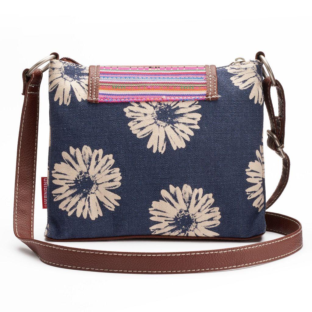 Unionbay Flower Dual-Entry Crossbody Bag