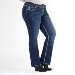 Plus Size Rhythm in Blues Embellished Slim Bootcut Jeans