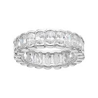 Sophie Miller Sterling Silver Cubic Zirconia Eternity Ring