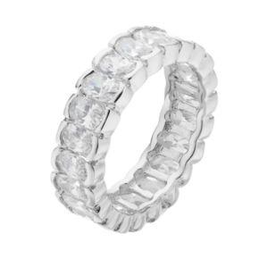 Sophie Miller Sterling Silver Cubic Zirconia Eternity Ring