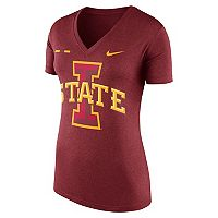 Women's Nike Iowa State Cyclones Striped Bar Tee