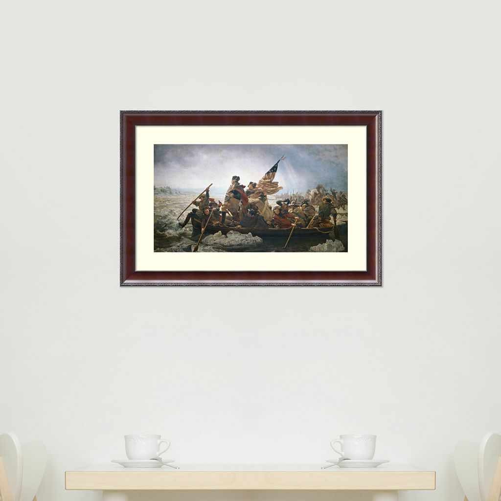 Amanti Art Washington Crossing The Delaware River Framed Wall Art