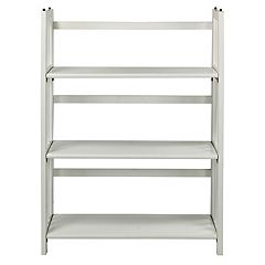Casual Home 3-Shelf Stackable Folding Bookcase