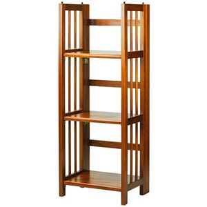 Casual Home 3 Shelf Stackable Folding Bookcase