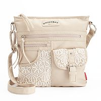 Unionbay Washed Lace Crossbody Bag
