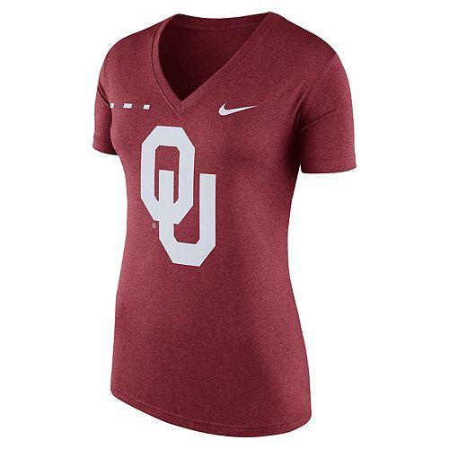 Women's Nike Oklahoma Sooners Striped Bar Tee
