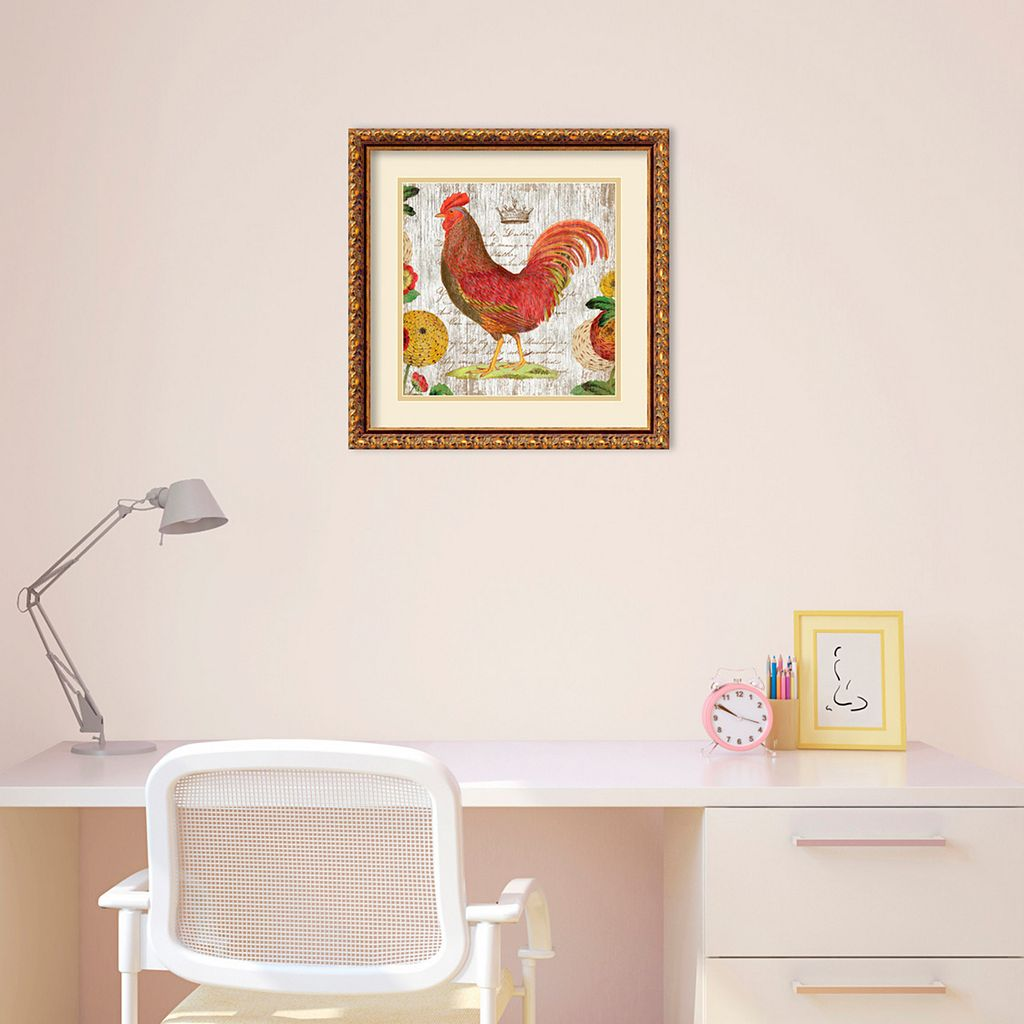Amanti Art Rooster II Framed Wall Art