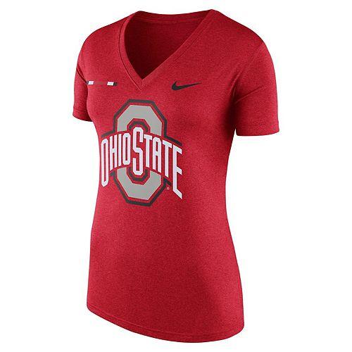 Women's Nike Ohio State Buckeyes Striped Bar Tee