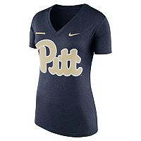 Women's Nike Pitt Panthers Striped Bar Tee