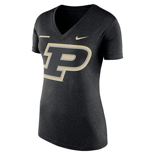 Women's Nike Purdue Boilermakers Striped Bar Tee