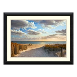 Amanti Art Sunset Beach Framed Wall Art