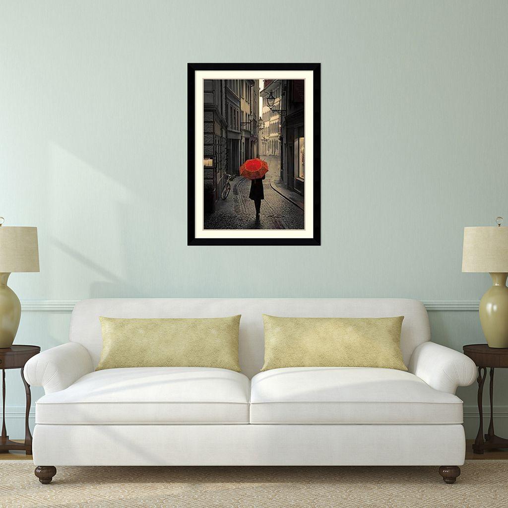 Amanti Art Red Rain Framed Wall Art
