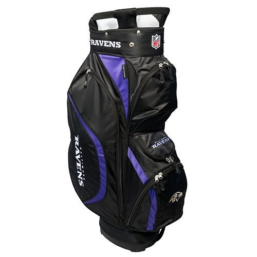 Team Golf Baltimore Ravens Clubhouse Golf Cart Bag