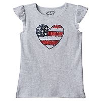 Girls 4-10 Jumping Beans® American Flag Heart Graphic Tee