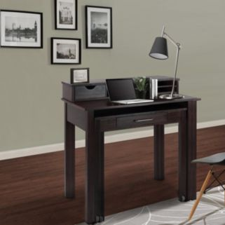 Casual Home Roll Out Desk & Hutch