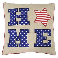 Celebrate Americana Together ''Home'' Letters Throw Pillow