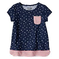 Girls 4-10 Jumping Beans® Stars & Stripes Mock Layered Tee
