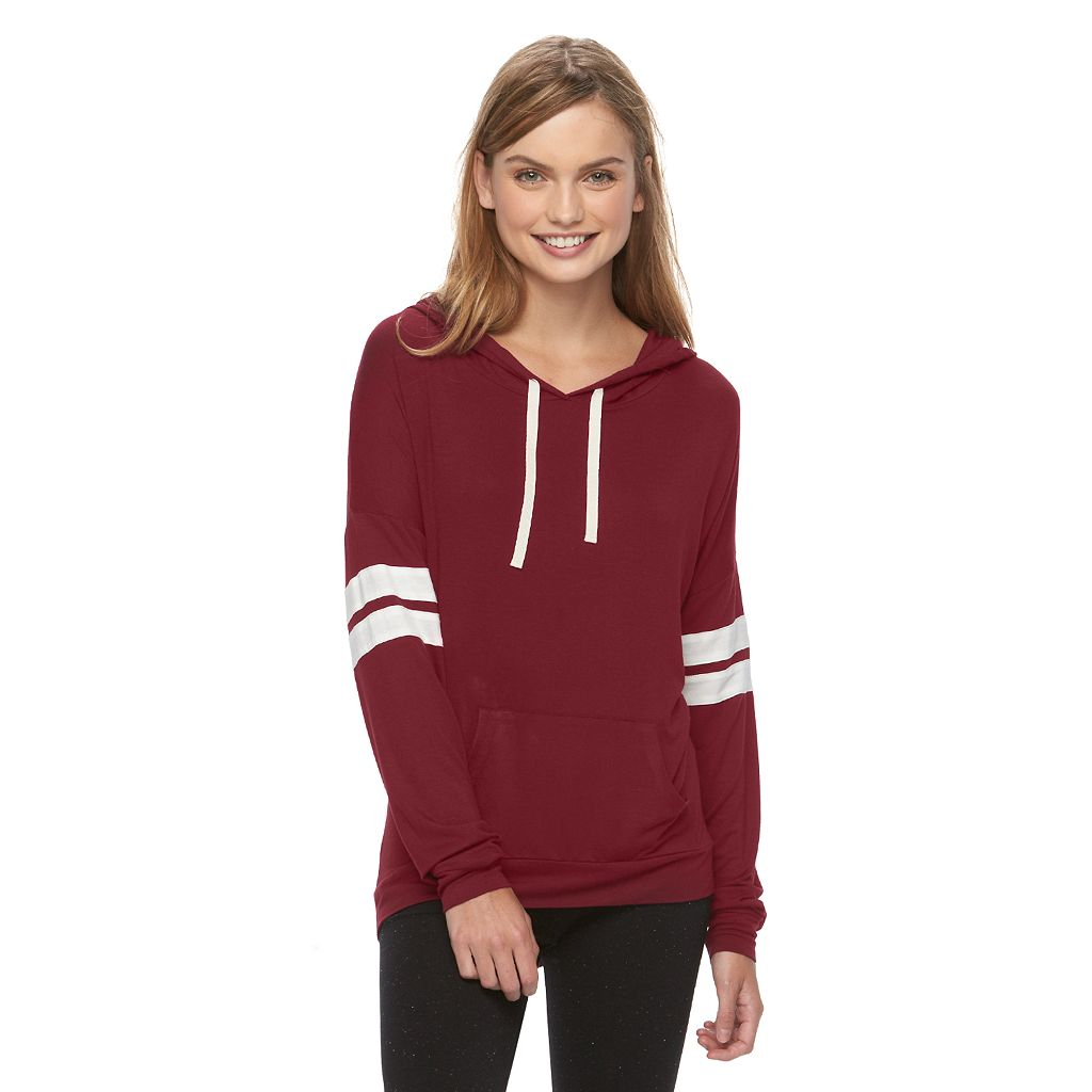 Juniors' Pink Republic Supersoft Varsity Hoodie
