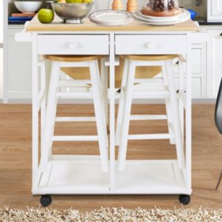 Casual Home Space Saver Kitchen Cart 3-piece Set