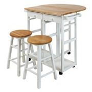 Casual Home Space Saver Kitchen Cart 3 pc Set