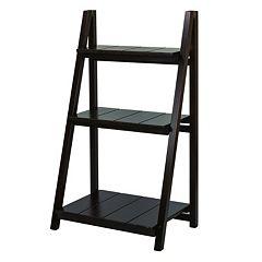 Casual Home Manhasset Slatted 3-Shelf Folding Bookcase by