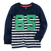Toddler Boys Carter's Raglan Striped Tee