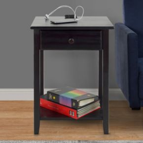 Casual Home Night Owl Night Stand with USB Port