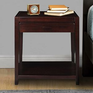 Casual Home Notre Dame Night Stand with USB Port