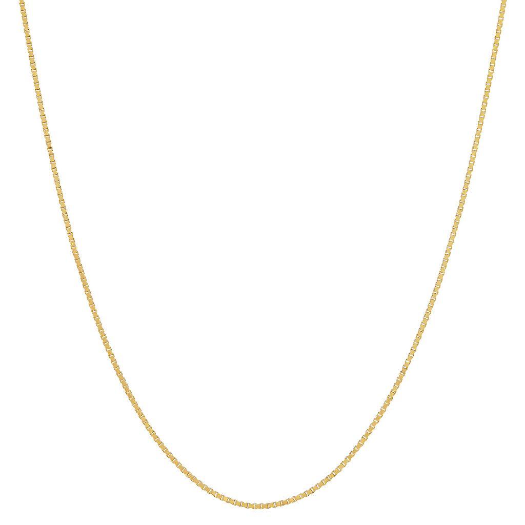 Everlasting Gold 14k Gold Diamond-Cut Box Chain Necklace - 20-in.