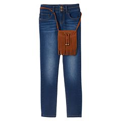 Girls 7-16 & Plus Size Mudd® Stacked Skinny Jeans & Purse Set