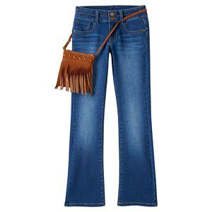 Girls 7-16 & Plus Size Mudd® Bootcut Jeans & Purse Set
