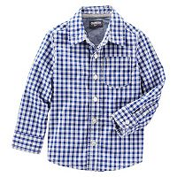 Boys 4-8 OshKosh B'gosh® Plaid Poplin Button-Down Shirt