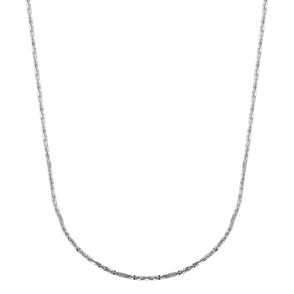 Everlasting Gold 14k White Gold Crisscross Chain Necklace - 18 in.