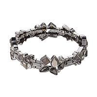 Simply Vera Vera Wang Square & Teardrop Cluster Link Stretch Bracelet