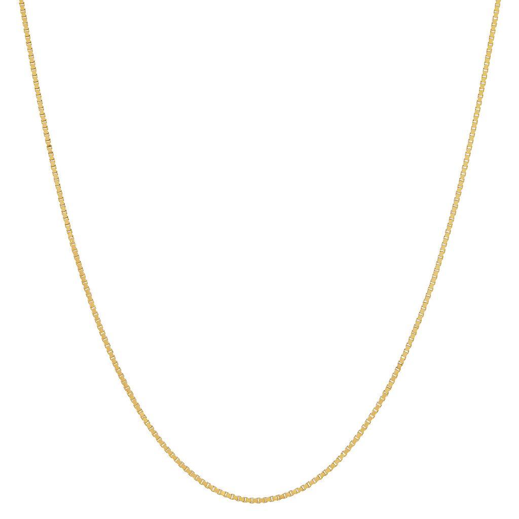 Everlasting Gold 14k Gold Diamond-Cut Box Chain Necklace - 24-in.