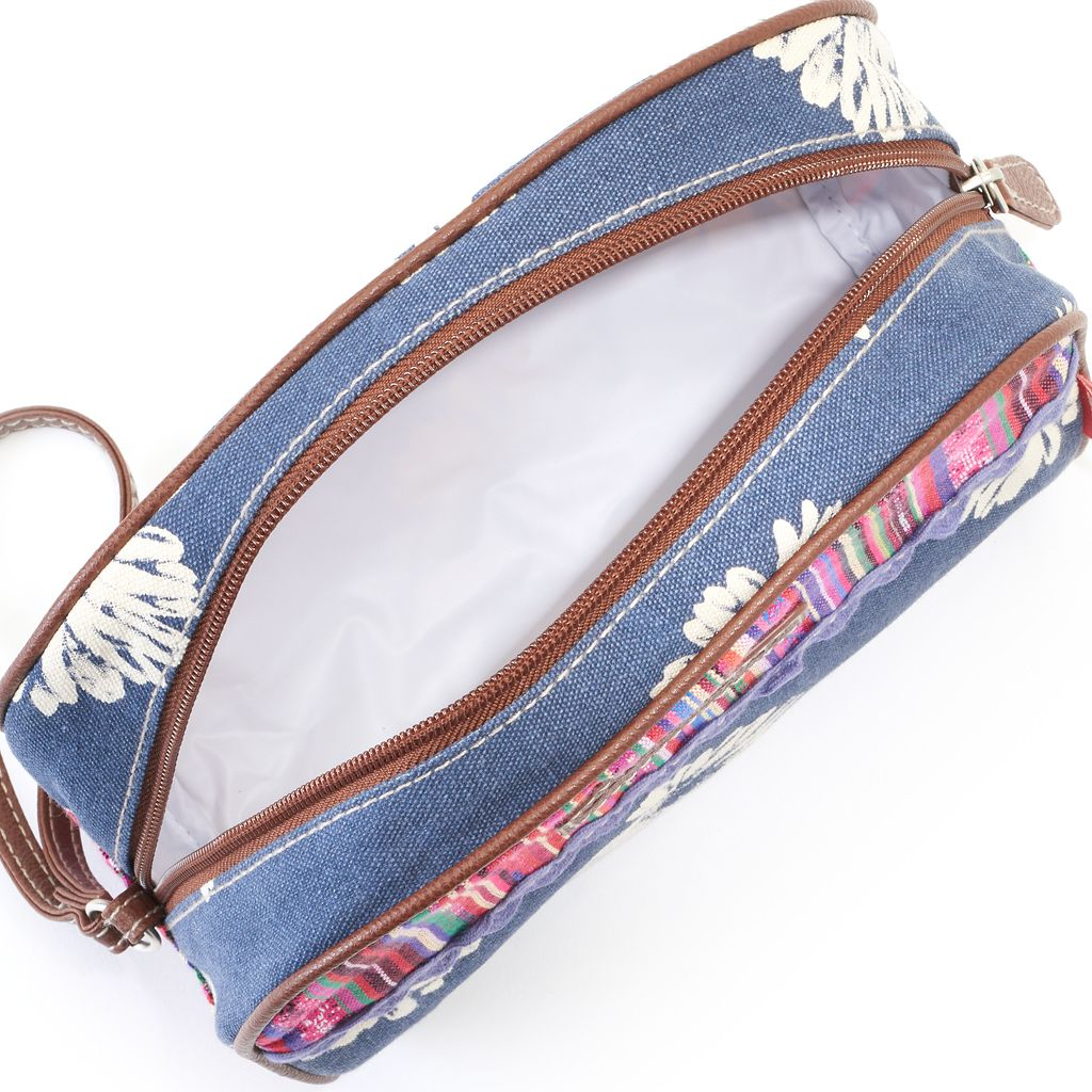 Unionbay Striped Daisy Cosmetic Bag